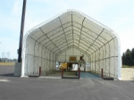 a fabric covered building is perfect for security, concrete pours, temporary warehouse space, and much more