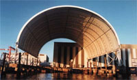 steel shelters are perfect to keep your boats safe