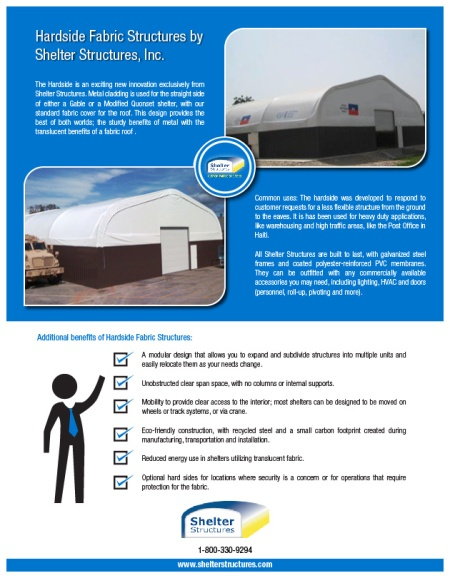 hardside structures from shelter structures infographic